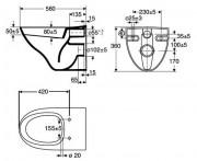 Унитаз IDO 7911501101 схема схема.